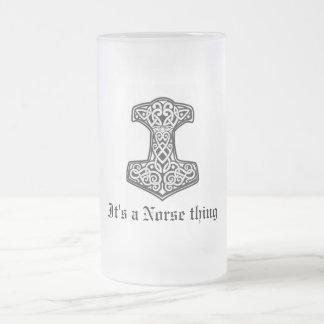Taza De Cristal Esmerilado Thor, es una cosa de los nórdises