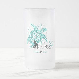 Taza De Cristal Esmerilado Tortuga de mar de Kalypso