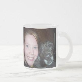 Taza De Cristal Esmerilado un amor de los perros