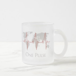 Taza De Cristal Esmerilado Un pulso