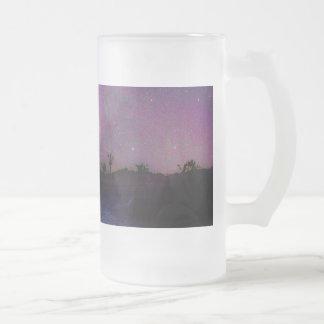 Taza De Cristal Esmerilado Vía láctea del parque nacional de la yuca