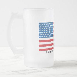 Taza De Cristal Esmerilado vidrio esmerilado 16oz patriótico
