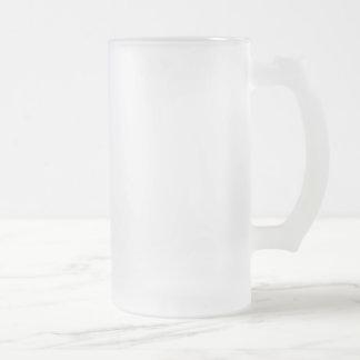 Taza De Cristal Esmerilado Vidrio esmerilado helado Stein de 16 onzas