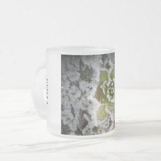 Taza De Cristal Esmerilado vidrio helado invierno natural cristales congelan