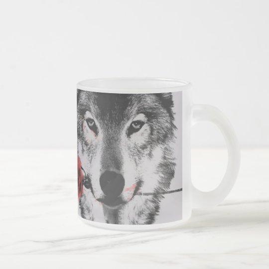 Taza De Cristal Esmerilado wolf cup