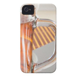 Taza de cristal transparente grande con cierre del funda para iPhone 4