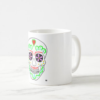 Taza de Dia de los Muertos Skull 11oz