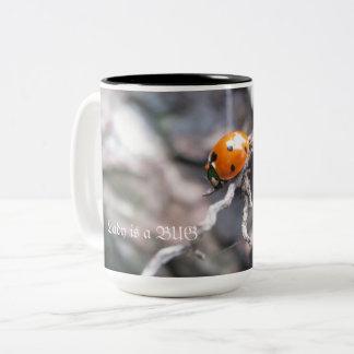 Taza de dos tonos con señora Bug Image