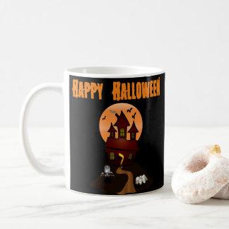 Taza de encargo de Halloween de la casa encantada