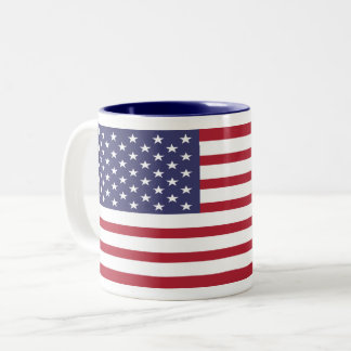 Taza de encargo de la bandera de los E.E.U.U.