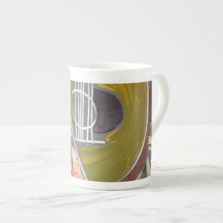 Taza de encargo de la porcelana de hueso, extracto