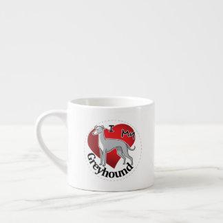 Taza De Espresso Amo mi galgo divertido y lindo adorable feliz