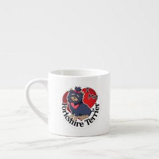 Taza De Espresso Amo mi Yorkshire divertido y lindo adorable feliz