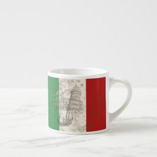 Taza De Espresso Bandera y símbolos de Italia ID157