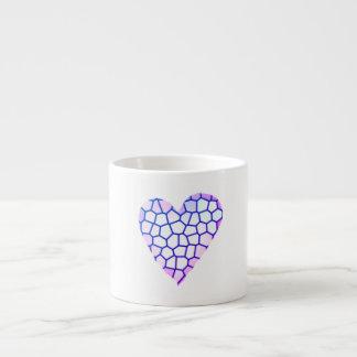 Taza De Espresso Corazón del mosaico