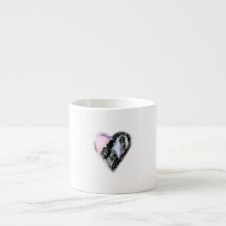 Taza De Espresso Corazón gastado