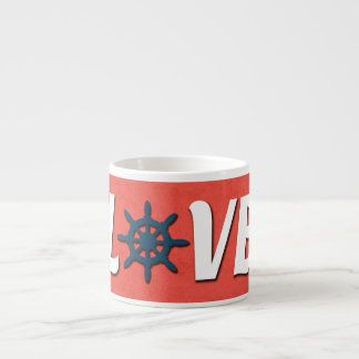 Taza De Espresso Diseño náutico del amor