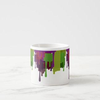 Taza De Espresso Fusión de los bloques del color