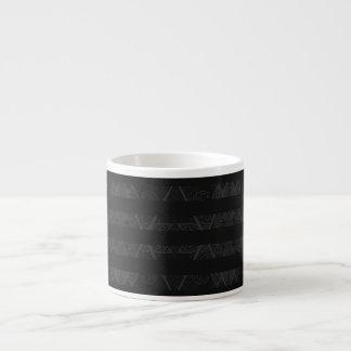 Taza De Espresso Gris embellecido Argyle rayado