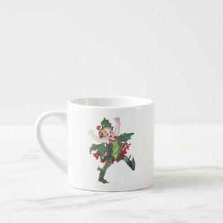 Taza De Espresso Hada del acebo
