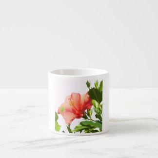 Taza De Espresso hibisco rojo