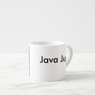 Taza De Espresso Jarro de Java blanco y negro