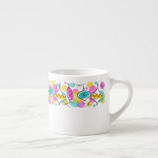 Taza De Espresso Línea retra café express de las chucherías del