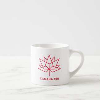 Taza De Espresso Logotipo del funcionario de Canadá 150 - esquema