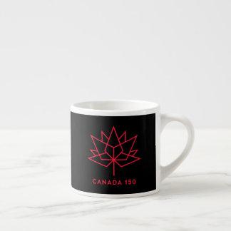 Taza De Espresso Logotipo del funcionario de Canadá 150 - negro y