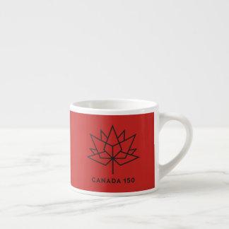 Taza De Espresso Logotipo del funcionario de Canadá 150 - rojo y
