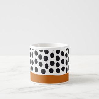 Taza De Espresso Lunares pintados a mano con clase con el arce del