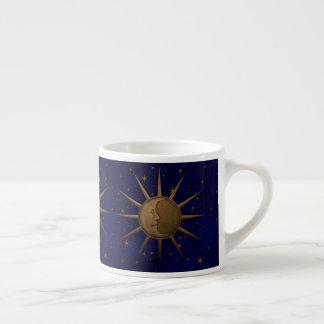 Taza De Espresso Noche estrellada de la luna celestial de Sun