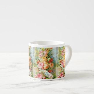 Taza De Espresso Perfume del agua de la Florida con los rosas de la