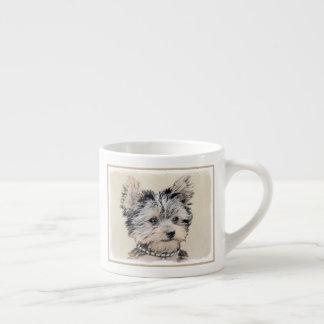 Taza De Espresso Perrito de Yorkshire Terrier que pinta arte