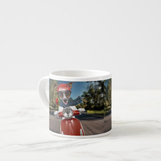 Taza De Espresso Perro de la vespa, enchufe Russell