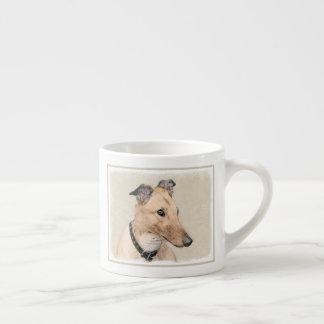 Taza De Espresso Pintura del galgo - arte original lindo del perro