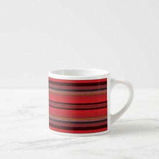 Taza De Espresso Rayas - horizonte rojo