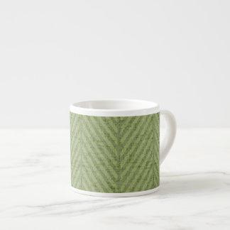 Taza De Espresso Rayas verdes de la sandía