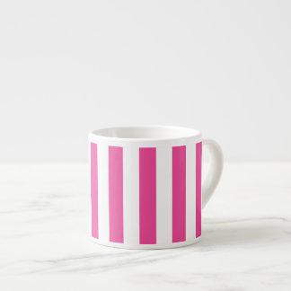 Taza De Espresso Rayas verticales rosadas