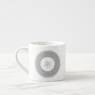 Taza De Espresso Starburst de plata simple