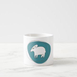 Taza De Espresso Una oveja en óvalos
