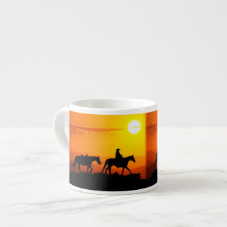 Taza De Espresso Vaquero-Vaquero-Tejas-occidental-país occidental