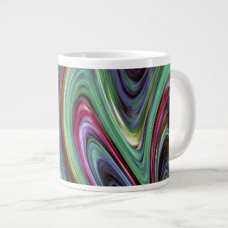Taza de fusión del jumbo del ~ 20oz de los colores taza extra grande