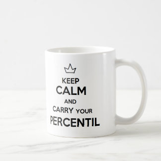Taza de keep calm and carry your percentil