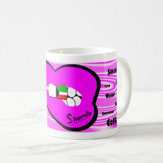 Taza de Kuwait de los labios de Sharnia (labio