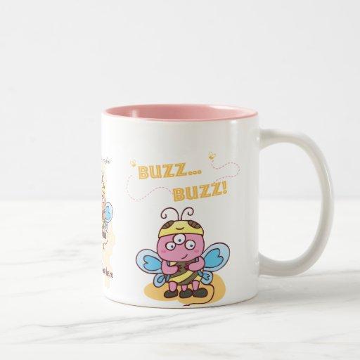 taza de la abeja de la miel del zumbido del zumbid