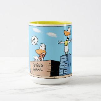 Taza de la aviación del dibujo animado del pato