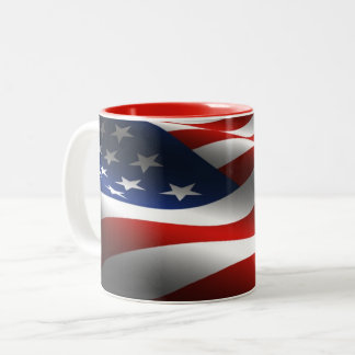Taza de la bandera de los E.E.U.U. de las