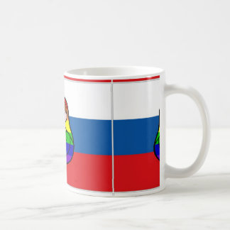 Taza de la bandera de Matryoshka del arco iris