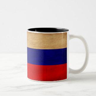 Taza de la bandera de Rusia